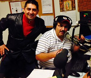 Popular DJs Humberto Calderon and Don Beto.